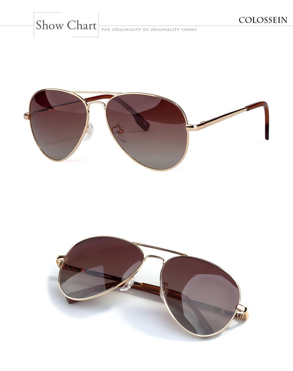 WANGMIN® Lunettes De Soleil Fashion Pilot Style Hommes Femmes Vintage Oval Lens Classic Brown Conduite Adulte Lunettes Lunettes , D