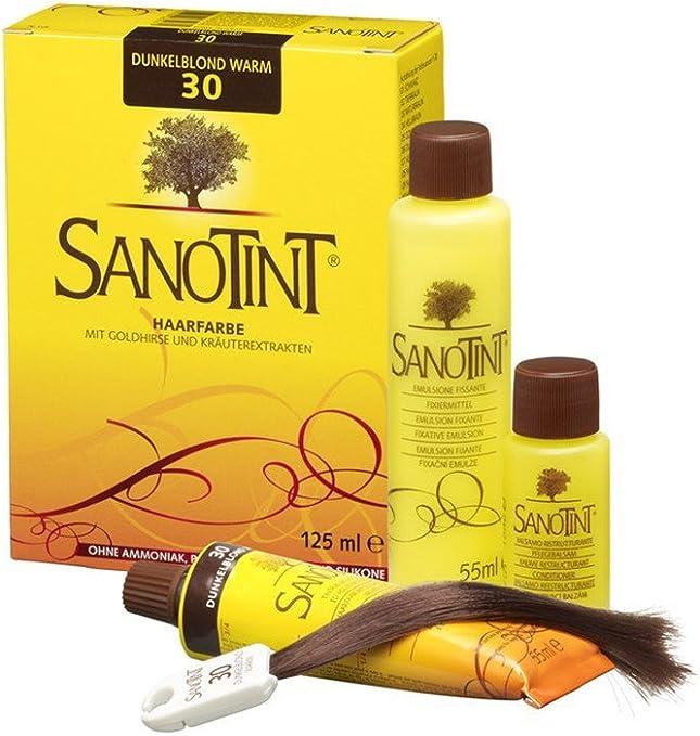 SANOTINT® Coloración de pelo nº30: rubio oscuro cálido (125 ml)