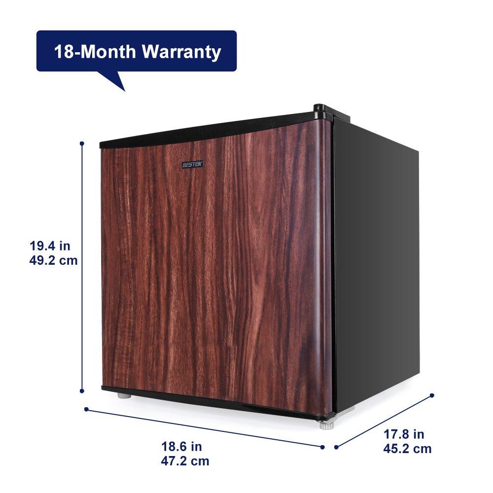 BESTEK Compact Refrigerator Energy Star Single Door 1.6 cu ft. Mini Fridge with Freezer - Wood Grain Finish (UL Listed) by BESTEK (Image #2)