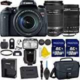 Canon EOS Rebel T6s 24.2MP Digital SLR Camera + Canon EF-S 18-135mm IS STM + Canon 55-250mm STM Lens + 2pc High Speed 32GB Memory Cards + UV Filter + Dedicated TTL Flash + 9pc Accessory Kit