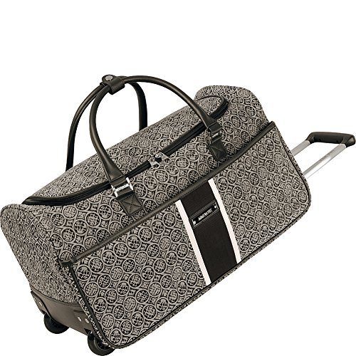 Ninewest Naia Wheeled City Bag, Black/White, One Size by Nine West