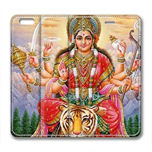 Hinduism Durga Custom Leather Cover for iPhone 6 Plus By Cases & Mousepads