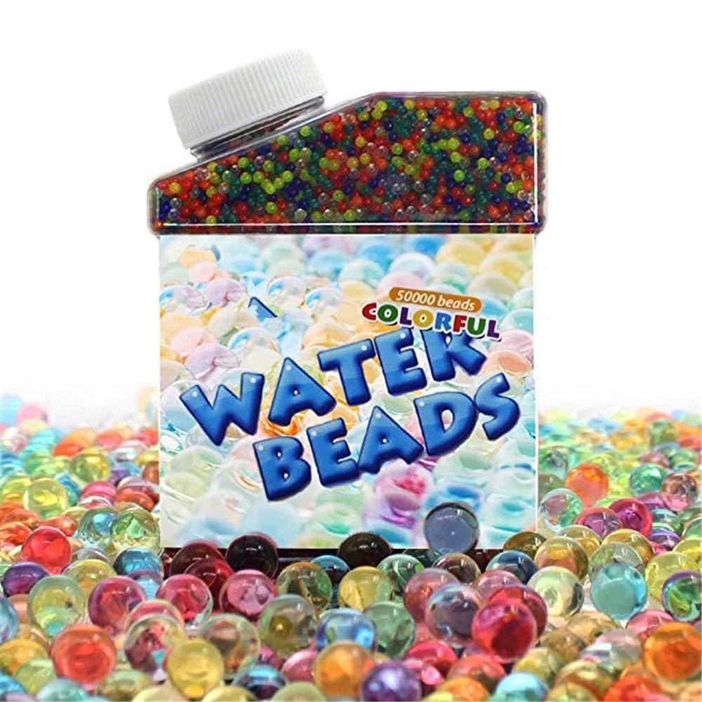 Perle d'acqua,Palline ad acqua (42,000 pcs), MUXItrade Crystal Water Gel Rainbow Color Jelly Crystal Beads Con Colori Misti Per Orbeez Spa, Giocattoli, Decorazione Di Cerimonia Nuziale, Perle Di Acqua, Vasi, Decorazione Domestica Perle d' acqua