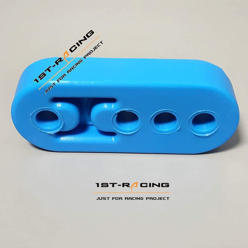 Ispeedytech Blue 12mm 4 Holes Universal Exhaust Hanger Bushing Muffler Insulator Shock Absorbent High Density Rubber 4 packs