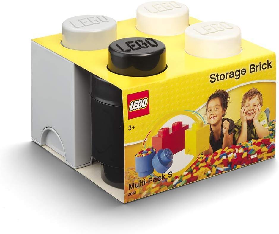 LEGO Multipack de Ladrillos de Almacenamiento, pequeño. Cajas de almacenaje apilables. Conjunto de 3 Piezas. (Negro, Blanco, Gris), Mix, One Size: Amazon.es: Hogar