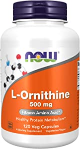 NOW Supplements, L-Ornithine (L-Ornithine Hydrochloride) 500 mg, Amino Acid, 120 Veg Capsules