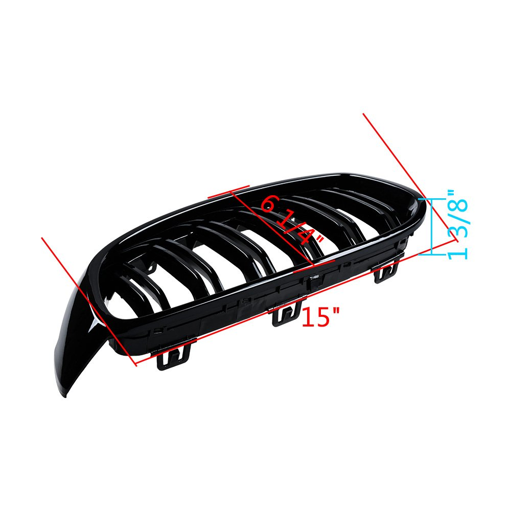 Astra Depot Front Kidney Glossy Black Grille for 2014-2017 F32 F33 F36 F82 F83 4 Series F80 M3 Kidney Grille Grill