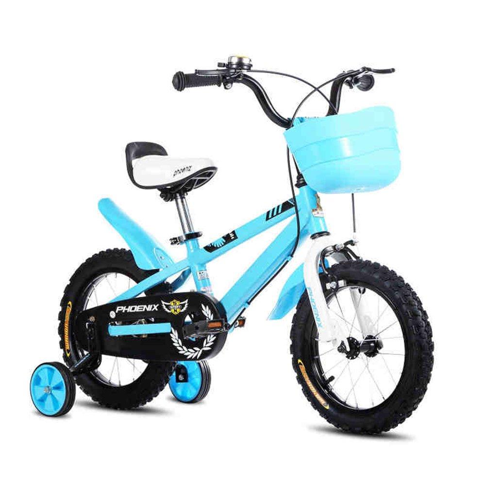 XQ TL-114 Azul Bicicletas Para Niños 3-13 Años De Edad Chico Chica Acero De Alto Carbono Bicicleta Para Niños (Tamaño : Length-83cm)