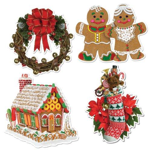 mas Cutouts   (4/Pkg) (Cut Out Christmas Cookies)