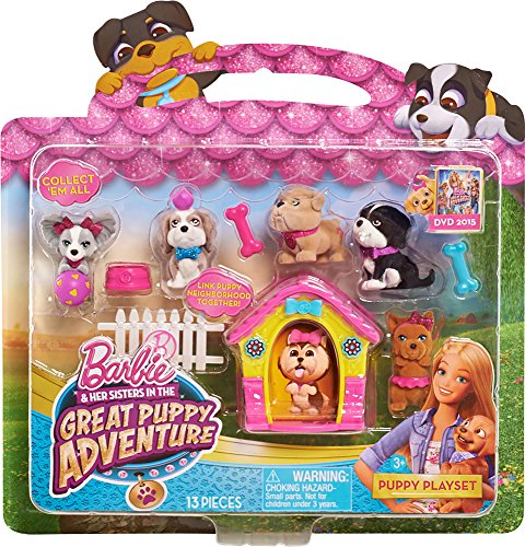 Barbie 61175 Adventure Puppy Playset, Pink (Barbie And Sisters In The Great Puppy Adventure)