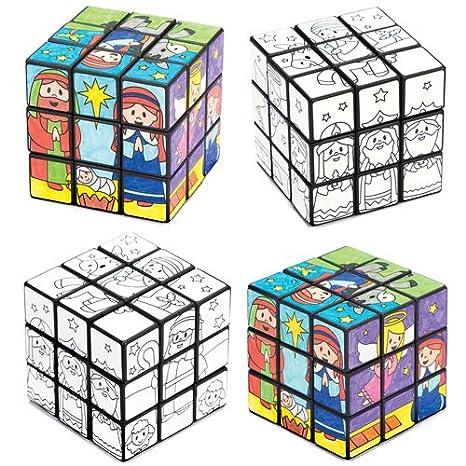 Cubi Puzzle Con Personaggi Del Presepe Da Colorare Per Bambini