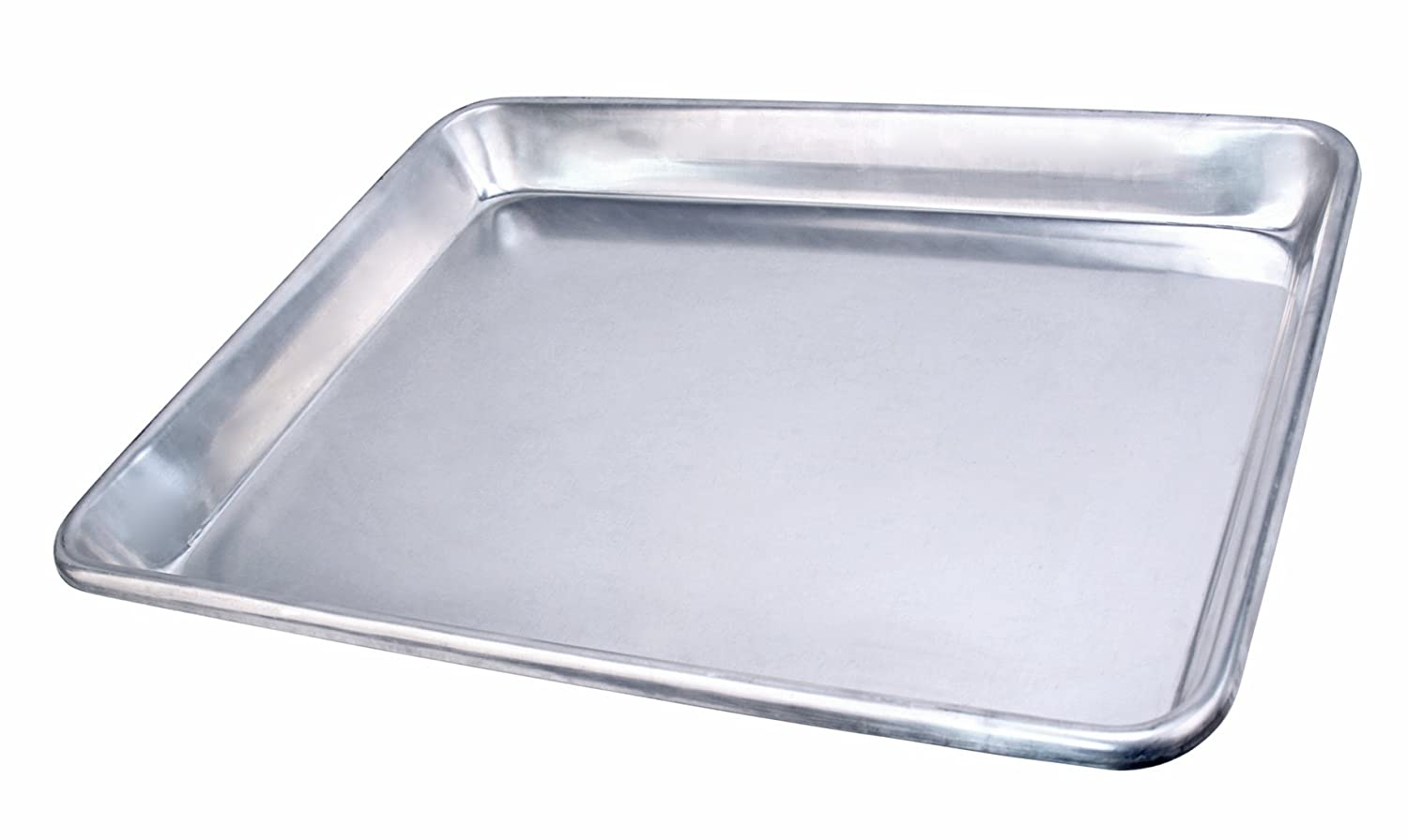 "New Star Foodservice 36800 Commercial-Grade 12-Gauge Aluminum Open Bead Sheet Pan/Bun Pan, 18"" L x 26"" W x 2"" H (Full Size) 
