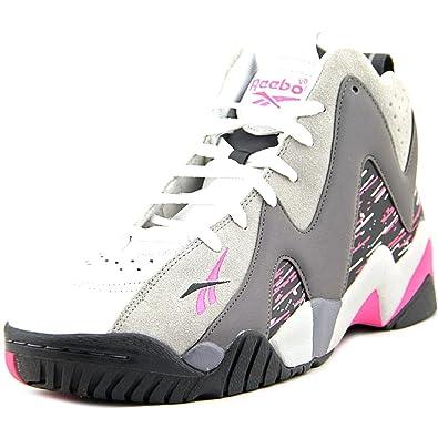Reebok Kamikaze II Mid Mens Basketball Shoe 11.5 Carbon-Shark-Solid Grey