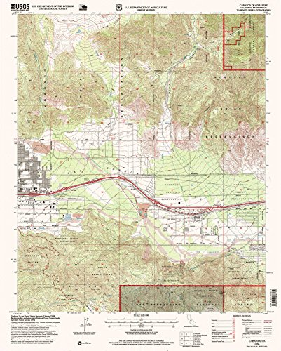 Cabazon CA topo map, 1:24000 scale, 7.5 X 7.5 Minute, Historical, 1996, updated 1999, 26.8 x 21.5 IN - - Cabazon Ca