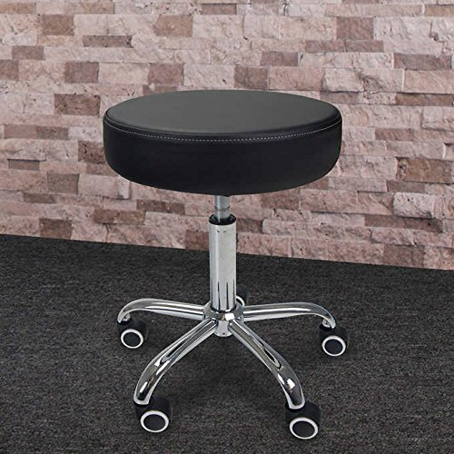 Multi Use Vinyl Seating (Multi-purpose Inner Strength Pneumatic Rolling Stool, Comfortable Height Adjustable Seating, Soft, Quiet Casters for Quiet, Easy Movement, 350 lbs. Weight Capacity)
