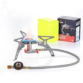 Naturehike ligero Mini cocina plegable estufa de gas Horno 3000 W para Camping Picnic: Amazon.es: Deportes y aire libre