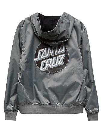 2e1f86c22c026c Amazon.com  Santa Cruz Boys Dot Hooded Windbreaker Jacket  Clothing