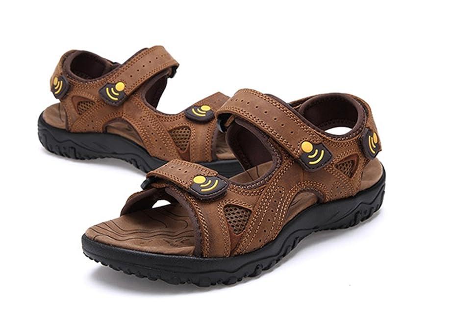 Mens Strap Leather Sandals Beach Athletic Sandals