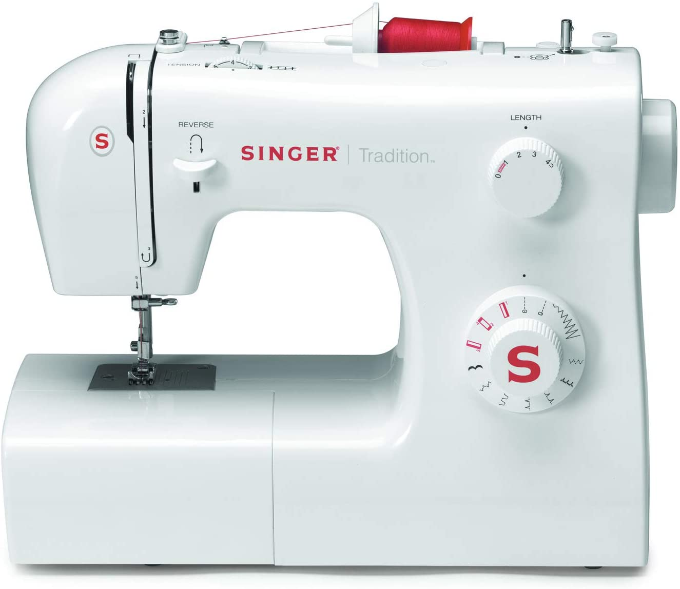 SINGER Tradition 2250 - Máquina de coser (Color blanco, Costura, Paso 4, Variable, Giratorio, Variable)