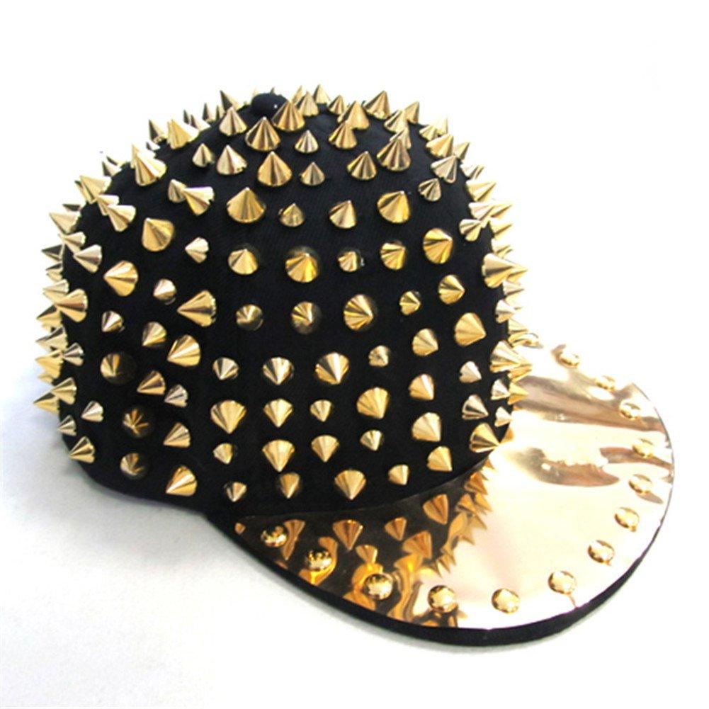 58ad0385c20 OFTEN Hedgehog Punk Studded Baseball Hip-hop Hat Spike Rivet Spiky Stud Cap