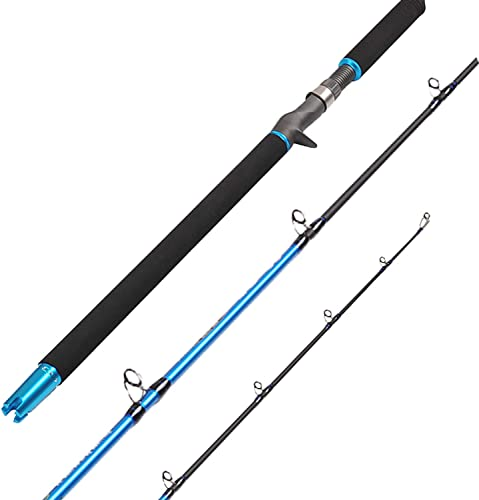 Fiblink 6 Saltwater Jigging Casting Rod 2-Piece Graphite Boat Fishing Rod 30-50lb 50-80lb