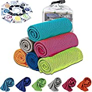 [6 Pack] Cooling Towel, Ice Sports Towel, Cool Towel for Instant Cooling,for Yoga, Travel, Golf, Gym,Camping,