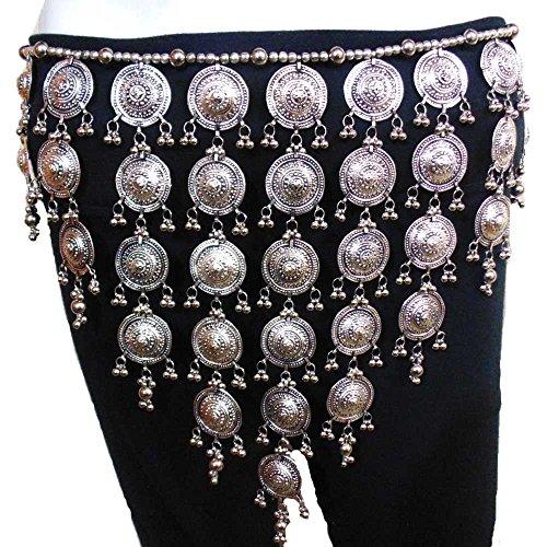Oxojewels Women's Belly Dance Hip Belt Oxidized Vintage Jewelry Gypsy Boho Kuchi Afghan