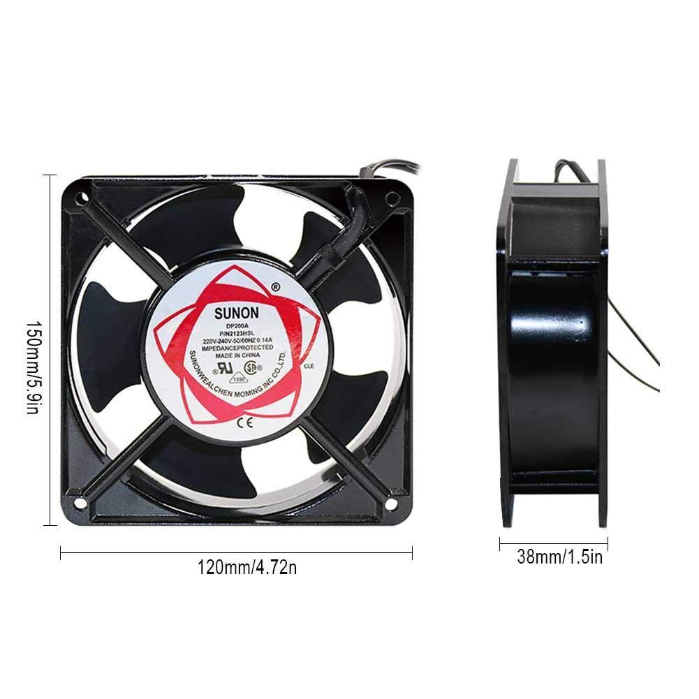 Juman634 Abluftventilator-ger/äuscharmer Axialventilator 220V 120 120 38MM L/üfter f/ür Ozon-Generator-Zubeh/ör L/ötl/üfter