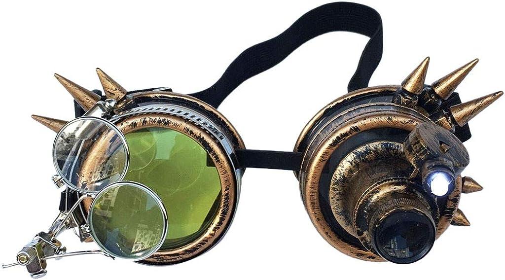 WUDUBE Ultra Premium Qualit/ät Steampunk Goggles Cyber Brille Viktorianischen Punk Style Schwei/ßen Cosplay Vintage Neuheit Cosplay