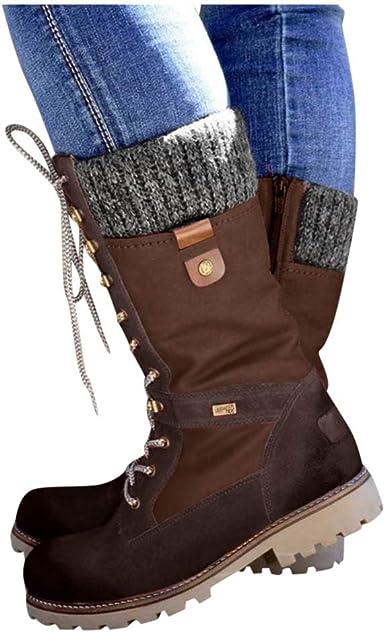 Dainzuy Womens Mid Calf Boots Winter