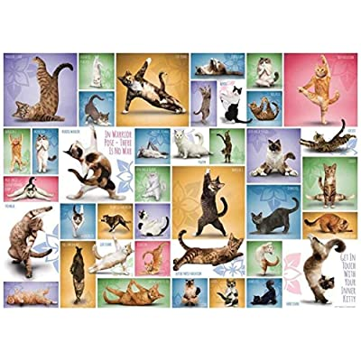Puzzle 1000 Piece Jigsaw Puzzle for Adults,Bzdthh,Yoga Cats,Every Piece is Unique,Pieces Fit Together Perfectly: Toys & Games