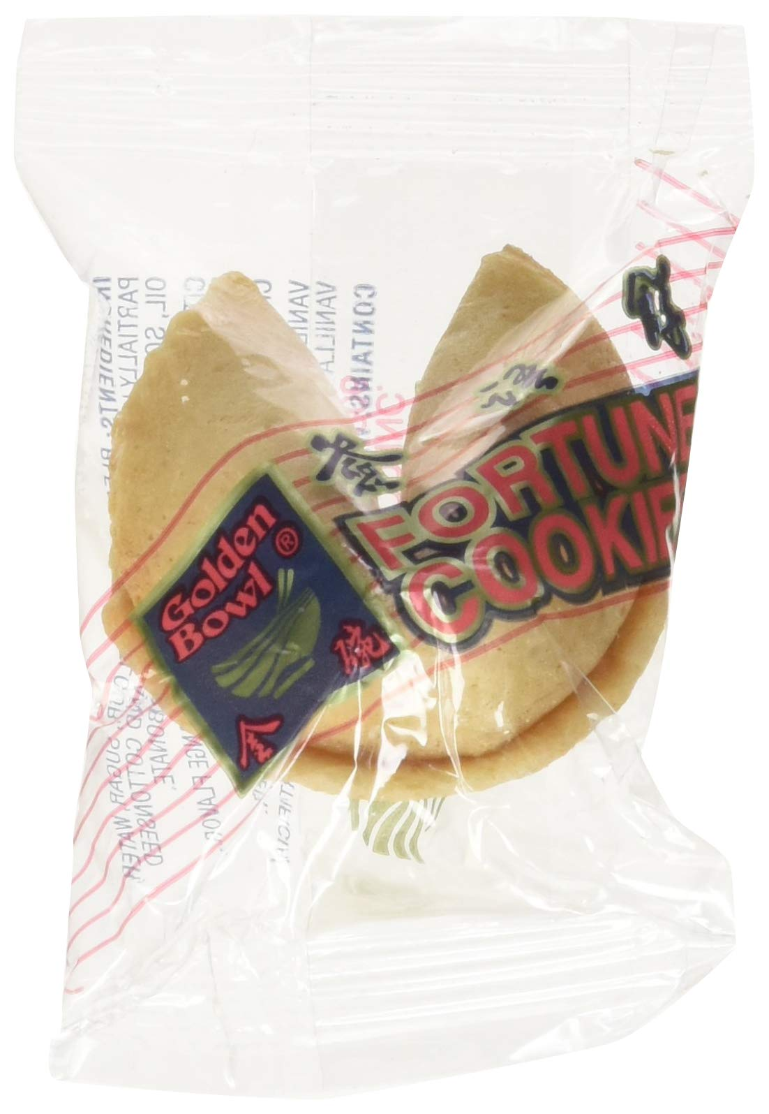 100 Pcs Fortune Cookies Fresh Single Wrap(golden Bowl) by Golden Bowl