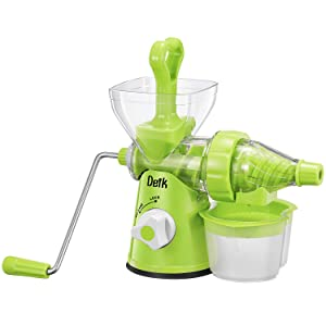 Manual Juicer, DEIK Manual Slow Masticating Juicer, Original Juicer Machine for Maximum Nutrition Value, Hand Cold Press Original Healthy Juicer for All Fruits and Vegetables, Easy to Clean