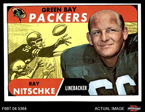 (1968 Topps # 157 Ray Nitschke Green Bay Packers (Football Card) Dean's Cards 5 - EX Packers)
