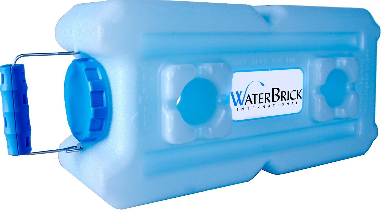 WaterBrick 1833-0001-12 Stackable Water and Food Storage Container, Holds 3.5 gal of Liquids/Up to 27 lb. of Dry Foods, Blue (Pack of 12)