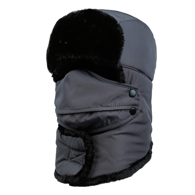 New Winter Windproof Thick Warm Hat Snow Outdoor Women Men Cap Face Mask Earmuffs Full Cover Dursable Cap