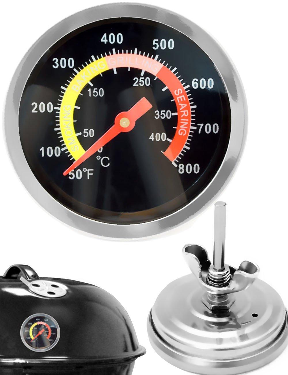 EU® - Analógica Resistente a la Temperatura de Barbacoa termómetro de Cocinero (para actualización para ollas Barbacoa Asador Horno para ahumar, ...