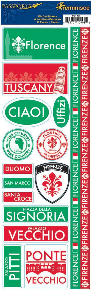 Reminisce Passports Combo Sticker, Florence by Reminisce B003161I7O