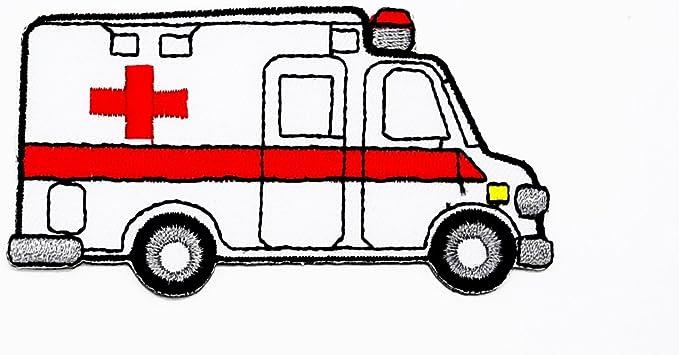 Ambulance D Urgence Patient Transferts Dessin Anime Enfants Patch Main Brodee Thermocollant Et Coudre Symbole Veste T Shirt Patches Applique Accessoires Amazon Fr Cuisine Maison