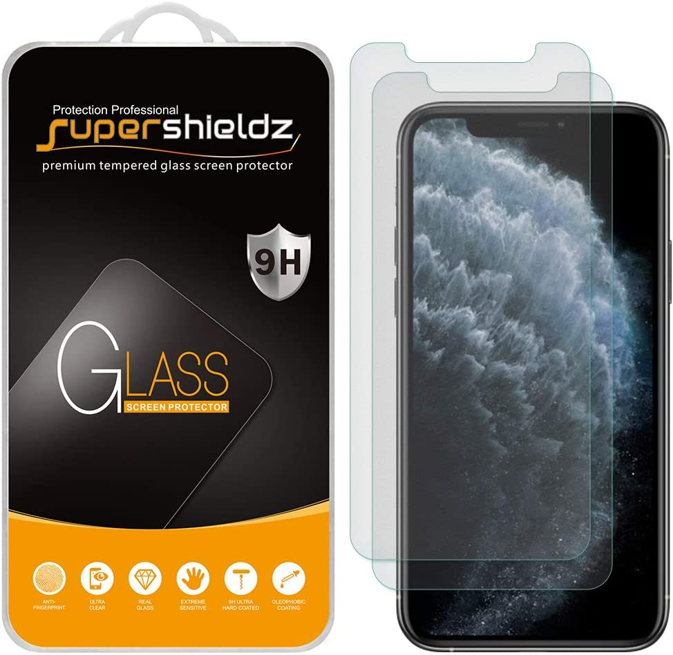 (2 Pack) Supershieldz Anti Glare (Matte) Screen Protector for iPhone 11 Pro, iPhone Xs and iPhone X (5.8 inch) [Tempered Glass] Anti Scratch, Bubble Free