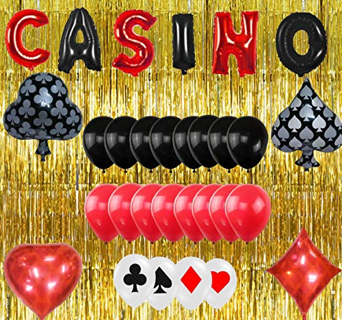 Casino Party Decorations Favors Las Vegas Theme Casino Night Party Supplies Set by TOYFUL]()