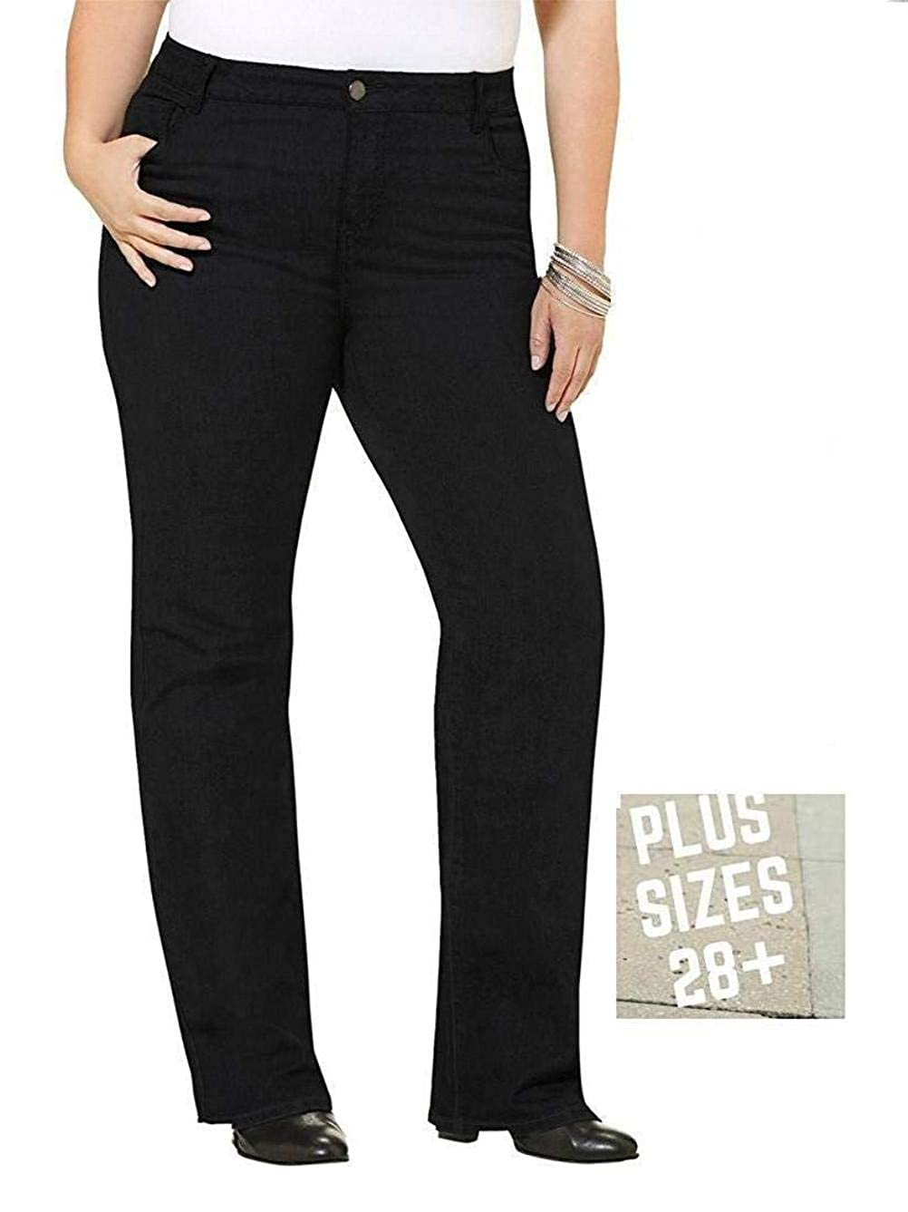fc8af1688b1 Jack Dvid Avenue Diamante Extended Womens Plus Size Bootcut Straight Skinny  Leg Jean Stretch Denim Jeans Pants UP to 8X   28+ at Amazon Women s Jeans  store
