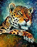 LEOPARD is an Oversized, One-of-a-Kind, ORIGINAL OIL PAINTING ON CANVAS by Leonid AFREMOV. This is an amazing, vertical portrait of a Leopard perched upon a rock carefully surveying his territory. We asked Leonid to paint some new, exciting and AFFOR...