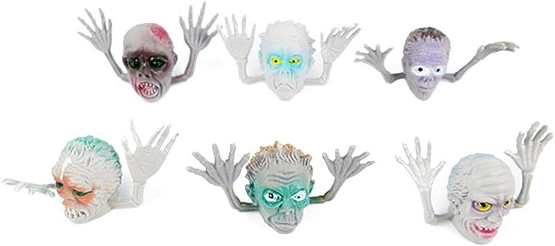 6 piezas de juguete de estilo de miedo fantasma interesante marioneta dedo juego de niños de juguete de la historia: Amazon.es: Juguetes y juegos