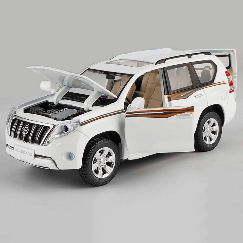 moda QRFDIAN Toyota Land Land Land Cruiser Prado modelo de aleación de coche 1: 32   Modelo de juguete de coche de SUV de fuerza trasera   Coche de juguete niño niño   Colección de juguetes de metal para adultos Dec  el mas reciente