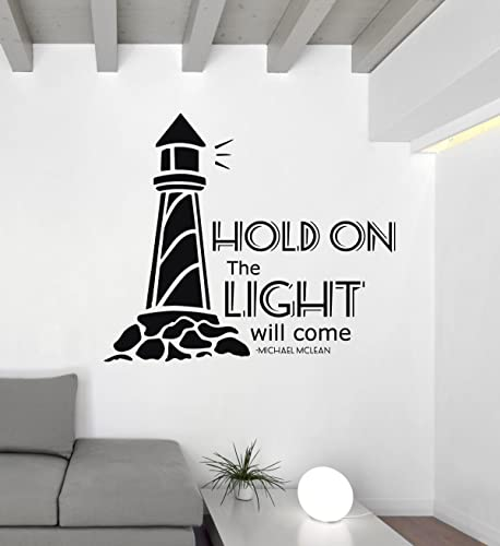Song Lyrics Wall Decals   Michael McLean   Hold On The Light Will Come    Encouraging