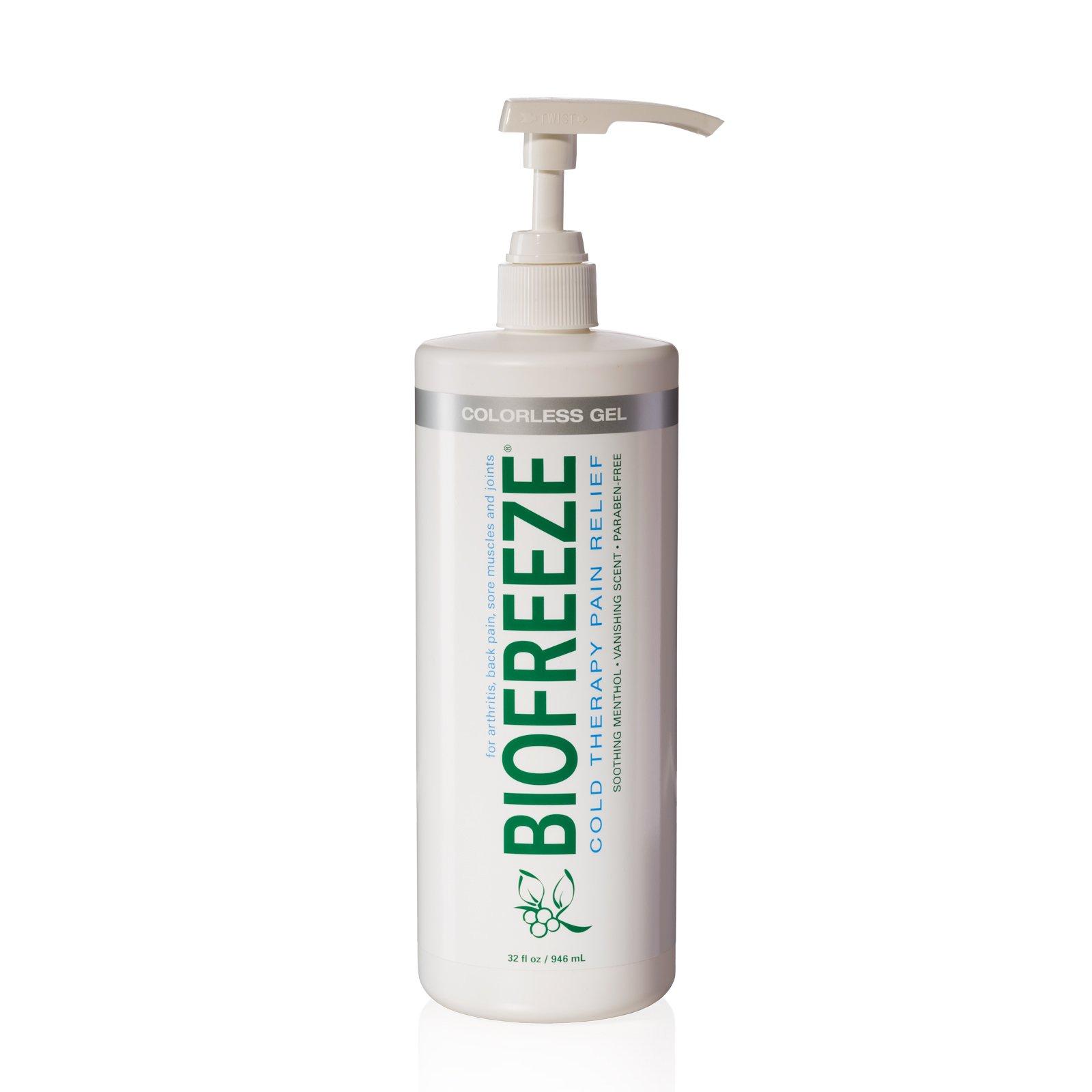 Biofreeze Pain Relief Gel, 32 oz. Pump, Colorless by Biofreeze