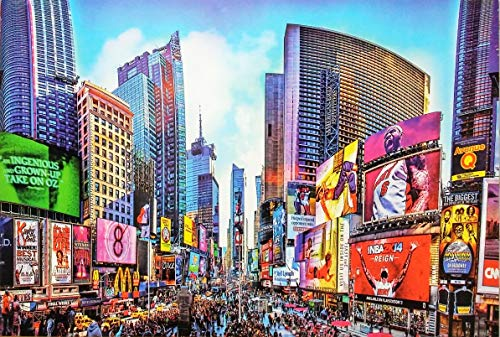 Scenic New York, Manhattan Time Square Looking South 2000 Piece Jigsaw Puzzle, 34 in x 24 in Completed