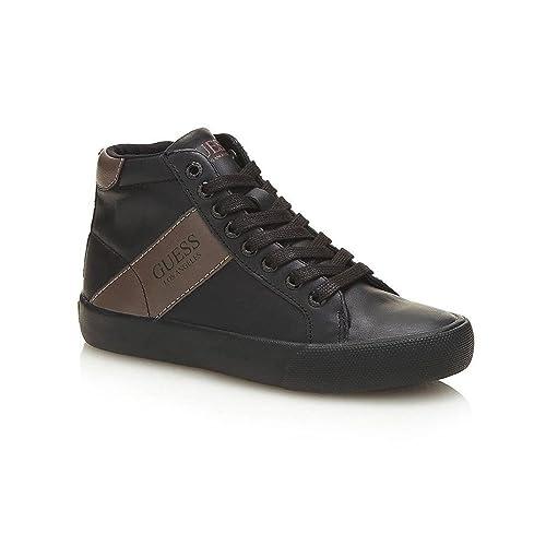 GUESS Zapatillas de Deporte de Otra Piel Niños, Negro (Negro), 35 EU: Amazon.es: Zapatos y complementos