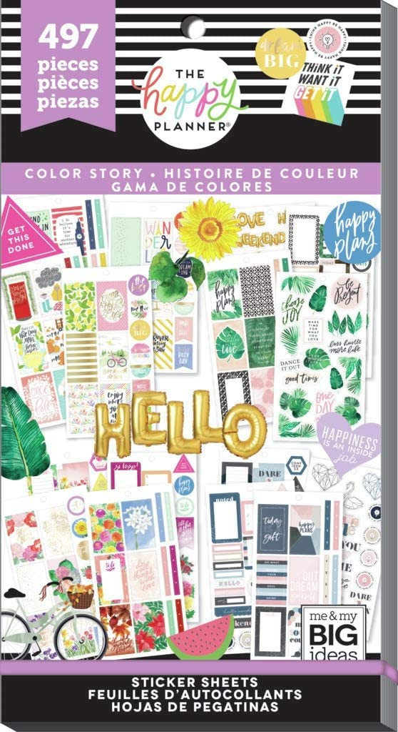 497 Happy Planner Stickers Color Story